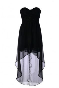 Gorgeous black, hi-low dress.   This is absolutely amazing. Love the high-low look and black looks great with everything!