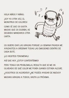 LOS RATONES DE ZARATÁN: monstruo de colores Psychology Clinic, Monster Activities, Gestalt Therapy, Learning Through Play, Conte, Kids Education, Coloring Pages, Homeschool, Mindfulness