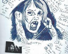 """Work on yourself sketch"" - pen & ink, in Sketchbook"