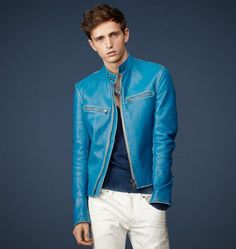 RONNIE LEATHER JACKET on Belstaff (I like the cut but the color is crazy)