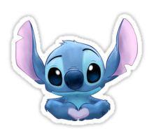 Stitch Heart Sticker