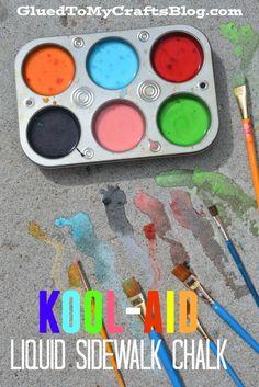 Kool-Aid Liquid Sidewalk Chalk
