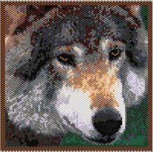 Wolf Pattern. You can use this wolf pattern for a mini tapestry, or trim down for an amulet bag. The graph is provided as a word chart AND as a color coded graph. Delica Numbers, and quantities, Thumbnail and word chart instructions are included. 29 colors