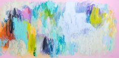"""The Longest Kiss"" by Claire Desjardins. 30""x60"", acrylics on canvas. #clairedesjardins #artwork #clairedesjardinsart #art #painting #abstractart #abstractartwork #abstractpainting #originalart #originalartwork #originalpainting #artforsale #artworkforsale #paintingforsale #abstractexpressionism #pink #navy #turquoise #wallart #walldecor #interiordeco #interiordecor #interiordecorating #interiordecoration #acrylicpainting #acrylics #anthroartist #microsoftartist #nuvangoartist…"