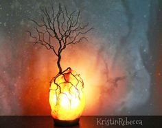 Twisted Wire Tree of Life Sculpture Himalayan Salt Lamp Tree Lamp