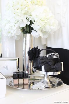 #Girly | #Adalmina's Secret | #Perfume | #Fashion | #Perfection | #Luxury | #Vase | #Silver | #Flowers | #White | #Black | #Decoration | #French | #Parisian