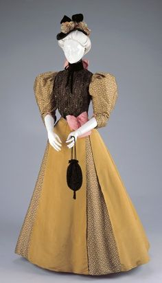 Afternoon Dress: Bodice and Skirt Artist/Maker:H. & S. Pogue Co., Cinti (American, estab. 1863), designer/maker Date:1896-1897 Place:Cincinnati/Ohio/United States