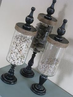 cheap apothecary jars!! Love this I will do this one soon!