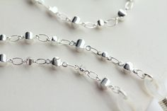 Silver Eyeglass Chain Silver Glasses Chain Silver by Maetri