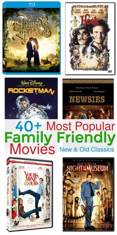 Break out of your movie rut with this complete list of New and Old Classic Family Friendly movies for family movie night for everyone! Movie To Watch List, Good Movies To Watch, Movie List, Movies For Boys, Teen Movies, Old Family Movies, Kid Friendly Movies, Movies Worth Watching, Movie Marathon