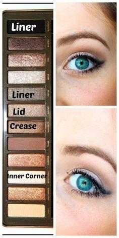 Spreading Sunshine: Maquillage rapide et naturel (palette nue - make up - # Urban Decay Makeup, Urban Decay Eyeshadow Palette, Naked Palette, Naked2 Palette Looks, Eye Palette, Daily Makeup, Makeup Tips, Beauty Makeup, Makeup Ideas