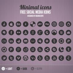 Beautifully crisp social icons - free to download http://www.brankic1979.com/2011/12/free-social-media-icon-set/