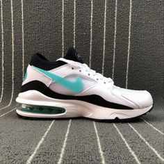 Nike Air Max 93 White Blue Orange Shoes Best Price 306551 104