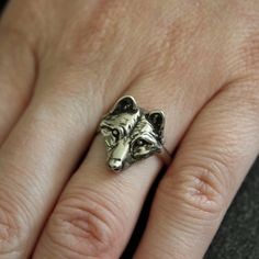This seller's stuff is rad and so economical. Love this wolf ring.