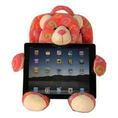 Tablet Teddy Bear from Dean Designs Best Tablet For Kids, Color Swirl, Tablet Holder, Cool Tech, Kids Corner, Animal Pillows, New Toys, A Table, Little Ones