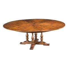 Dining table that expands to seat 10 - walnut Circular Dining Table, Vase Shapes, Tuscan Decorating, Tuscan Style, Walnut Finish, Kitchen Design, Traditional, Furniture, Home Decor
