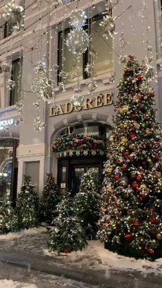 Christmas Tree Gif, Winter Christmas Scenes, Christmas Scenery, Winter Wonderland Christmas, Christmas Past, Cozy Christmas, Christmas Pictures, Christmas Lights, Christmas Decorations