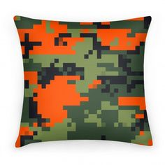 Pixelated Hunter Camo Pattern Pillow