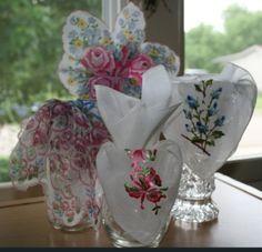 Vintage handkerchiefs @Cupcakesandcrinoline.com