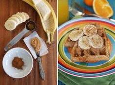 PB Banana Whole Grain Waffles from Our Best Bites