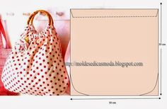 Patrons sacs - Chez elkalin.com Bag Patterns To Sew, Sewing Patterns, Diy Sac, Diy Handbag, Craft Bags, Types Of Bag, Fabric Bags, Handmade Bags, Sewing Tutorials