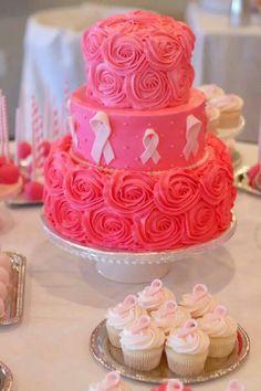Breast Cancer Awareness cake #breastcancerawareness #mimissweetcakesnbakes