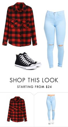 """""""caual"""" by withered-ros on Polyvore featuring moda y Converse"""