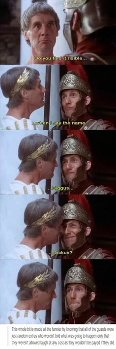 Monty Python is one of the greatest inventions ever! I love them!