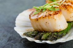 14 Succulent Scallop Recipes - Looking for an easy and delicious date night meal? Scallops are your answer! Check out these 14 suc - Sauteed Scallops, Grilled Scallops, Pan Seared Scallops, Fish Recipes, Seafood Recipes, Cooking Recipes, Healthy Recipes, Healthy Scallop Recipes, Shrimp And Scallop Recipes