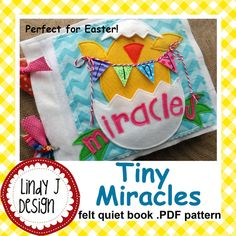 Tiny Miracles Quiet BOOK .PDF pattern for EASTER