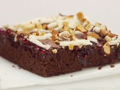 Chocolate Raspberry Bars with White Chocolate and Almonds recipe from Giada De Laurentiis via Food Network