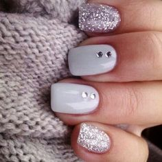 Best Winter Nails for 2018 - 45 Cute Winter Nail Designs - Best Nail Art #nailart