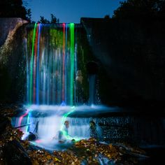 The result of glow sticks and long-exposure photography via fromthelenz