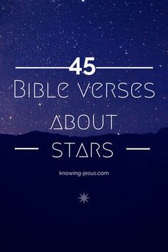 Bible verses about stars