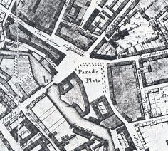 Ausschnitt eines Stadtplans mit dem Platz um 1804 Alexanderplatz Berlin