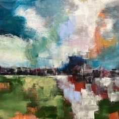 Cornwall & other landscapes: Colin Pollock Contemporary Landscape, Cornwall, Landscapes, Sky, Painting, Paisajes, Heaven, Scenery, Heavens