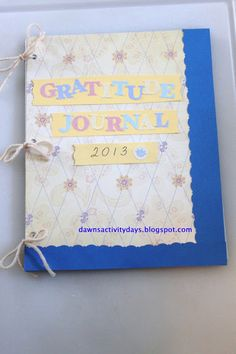 LDS Activity Days - gratitude journals