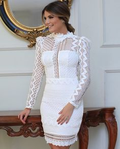 Image may contain: 1 person Elegant Dresses, Beautiful Dresses, Casual Dresses, Short Dresses, Prom Dresses, Formal Dresses, White Outfits, Dress Outfits, Fashion Dresses