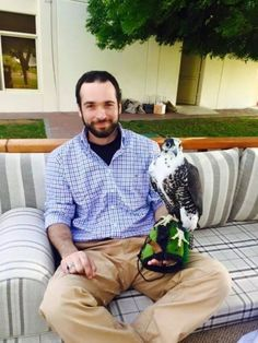 HRH Prince Hashim bin Al Hussein of Jordan and his falcon