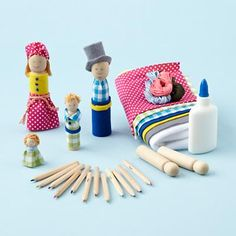 clothespin people craft kit (for niece?)