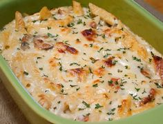 Baked Cheesy Chicken Penne - QuickRecipes Food For Thought, Think Food, I Love Food, Good Food, Yummy Food, Tasty, Yummy Eats, Chicken Penne, Penne Pasta