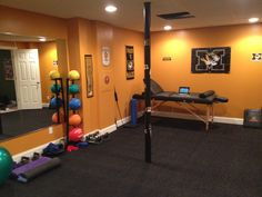 Fitness room on pinterest fitness rooms home gyms and for Workout room colors