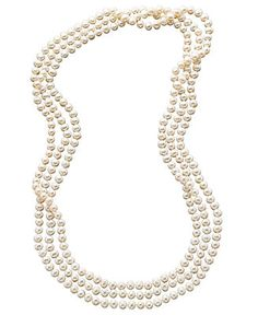 Pearl Necklace, 100 Cultured Freshwater Pearl Endless Strand Necklace - Fashion Jewelry - Jewelry & Watches - Macy's