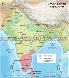 Map of Chola Dynasty
