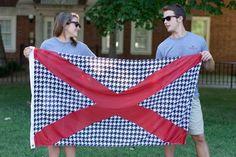 Volunteer Traditions Houndstooth Alabama State Flag