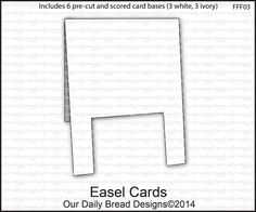 Our Daily Bread Designs Easel Cards  - Includes 6 pre-cut and scored card bases (3 White, 3 Ivory)