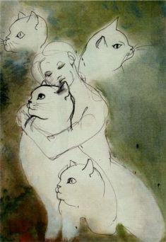 """I gatti bisogna viziarli, coccolarli e ogni tanto cantare loro una canzone...""""  Leonor Fini, Parigi fine anni ottanta"""