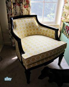 furniture redo pictures   Furniture Redo / chair