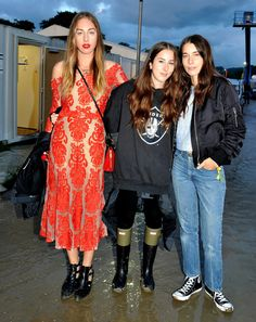 Los looks de Glastonbury 2014, las hermanas Haim