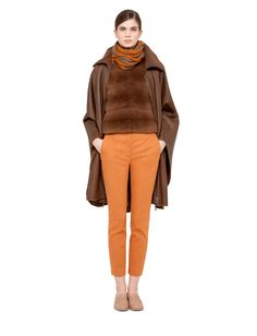 Akris: cape, lambskin, zip closure, seam pockets, self belt